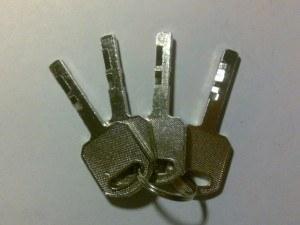 Exempel på nycklar till disklås.